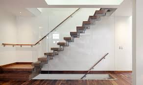 Wall Stairs Design Interior Design Lovely Wooden Step Stairs With Glass Balustrade