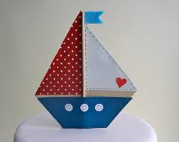 sailboat cake topper sailing cake topper etsy