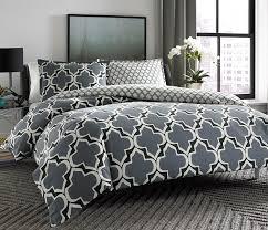 amazon com city scene brodie cotton duvet cover set grey king
