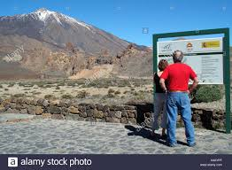 Canary Islands Map Teide National Park Tenerife Canary Islands Spain Map Signage And