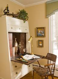 Cream Desk With Hutch Secretary Desk With Hutch Home Office Eclectic With Abattant Art