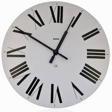 Modern Wall Clock Alessi 12 Firenze White Wall Clock With Roman Numerals Modern