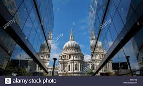 Office View by View Of St Pauls Cathedral Between Glass Fronted Office Buildings