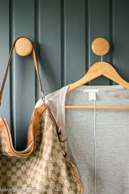 how to turn cabinet door knobs into wall hooks for coats
