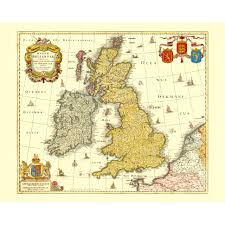 Great Britain On World Map by Vintage Map Of United Kingdom Wall Art Design