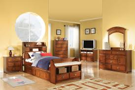 Twin Bedroom Set With Storage Brandon Antique Oak Full Bed With Storage