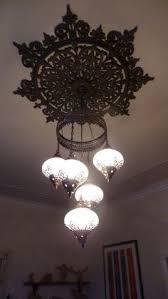 Morrocan Chandelier 5 Ball Arabian Mosaic Lamps Moroccan Lantern Chandelier Turkish