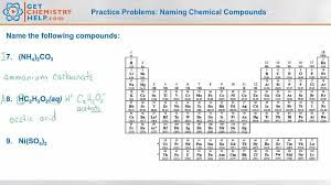 chemistry practice problems naming chemical compounds youtube