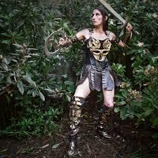 spooky halloween costumes for women diy tutorial diy halloween costume diy xena warrior princess