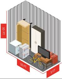 50 sq ft size guide for 50 square foot self storage unit