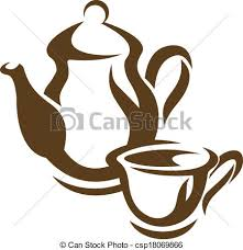 clip art vector of teapot and teacup vector doodle sketch of a