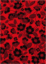 Dark Red Flower - flowers red and black background vector lines free vector