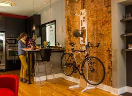 Bicycle Home Decor by Indoor Bike Storage Solution For Space Saving Home Improvement