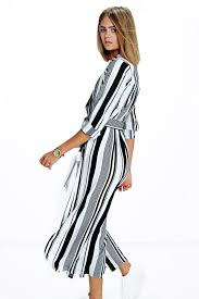 becky dress becky striped maxi shirt dress boohoo