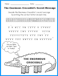 enormous crocodile lesson plans author roald dahl