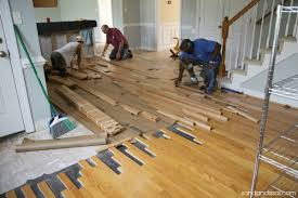 preparing and installing hardwood floors