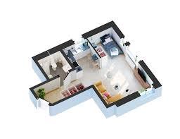 3 D Floor Plans by Scandinavian Style Apartment 3d Floor Plan U2013 Viscato