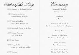 wedding program exles wording outdoor wedding order of service suggestionswedding wording