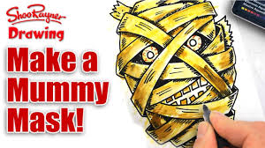 how to make a scary mummy mask youtube