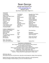 Actors Resumes Examples by About Me Resume Free Resume Example And Writing Download
