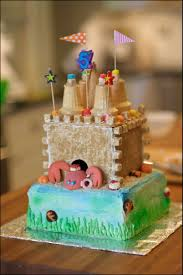 Minecraft Cake Decorating Kit Beach Party Sand Castle Cake Gray Barn Baking