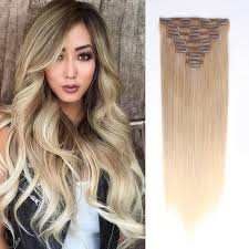 in hair extensions clip in hair extension brown mix mix 8 60