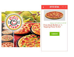cici u0027s pizza free buffet or 1 topping pizza to go just