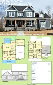 plan 500007vv craftsman house plan with main floor game room and
