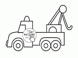 tow truck coloring page for preschoolers transportation in