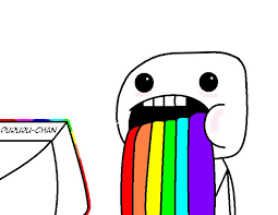 Puking Rainbow Meme - rainbow vomit meme by pururu chan on deviantart