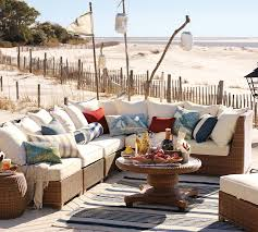 Pottery Barn Patio Furniture Designing Outdoor Living Room W Palmetto Sectional By Pottery Barn