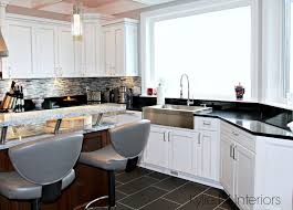 white sink black countertop white kitchen cabinets 3 palettes to create a balanced and