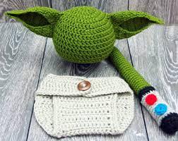 Star Wars Halloween Costumes Babies Yoda Costume Etsy