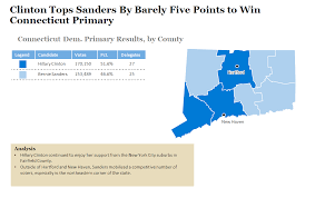 Primary Map 2016 Connecticut Democratic Primary Results And Voting Map