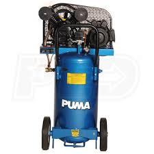 puma pk5020vp 2 hp 20 gallon belt drive dual voltage cast iron air