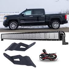 curved led light bar 52inch 3600w curved led light bar mount bracket fit gmc chevy