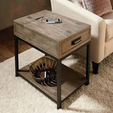 Charging Station End Table by Furniture Chairside Tables End Tables With Outlets Recliner