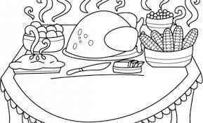 thanksgiving feast clipart black and white clipartxtras