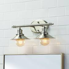 design home game vanity home decorators collection 2 light brushed nickel retro vanity light