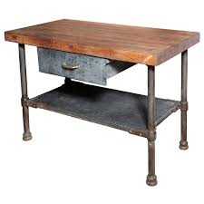 Industrial Work Table by Vintage Industrial Kitchen Work Table Kitchen Work Tables Ikea