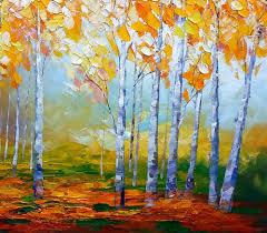 Wall Art Paintings For Living Room Birch Tree Painting Abstract Landscape Art Living Room Wall Art