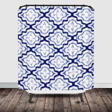 indigo moroccan pattern round pouf ottoman project cottage