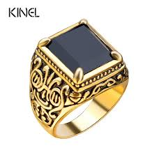 new mens rings images Retro black ring classic medieval style punk gilded men 39 s rings jpg