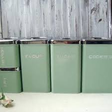 green kitchen canister set pastel kitchen canisters vintage canister set mint green set of 5