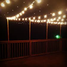 String Lights Over Pool by Outdoor String Lights Over Deck Trend Pixelmari Com