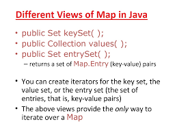 Map Java Keyset Vs Entryset Vs Values Example In Java Map Java67