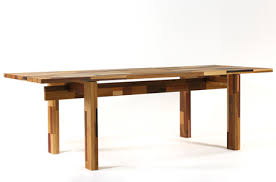 sustainable table made out of waste wood green design