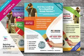 painting u0026 decorating flyers flyer templates creative market