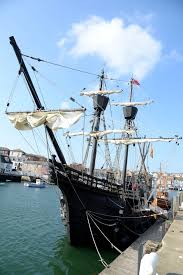 harbour welcomes replica of first ship to sail around the world