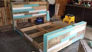 Crate Bed Frame Diy Hand Built Pallet Bed With Headboard 99 Pallets